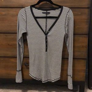 Abercrombie & Fitch stripped Henley shirt